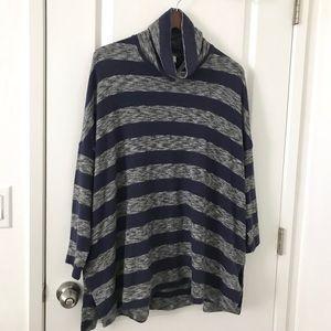 Anthro Postmark Striped Swing Oversized Sweater L